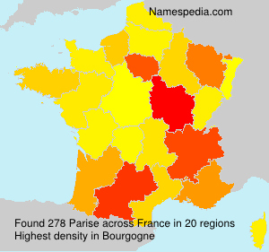 Surname Parise in France