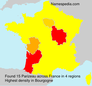 Surname Parizeau in France
