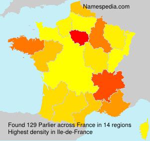 Familiennamen Parlier - France