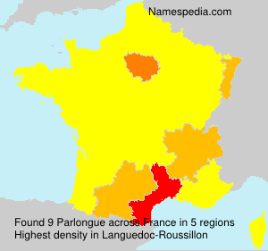 Surname Parlongue in France