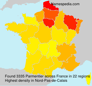 Surname Parmentier in France