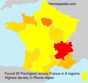 Surname Parmigiani in France