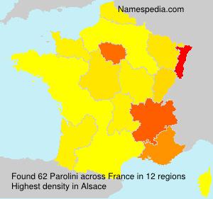 Surname Parolini in France