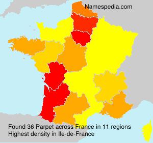 Surname Parpet in France