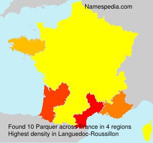 Familiennamen Parquer - France