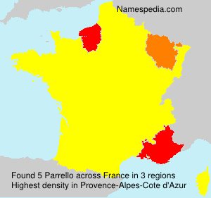 Surname Parrello in France