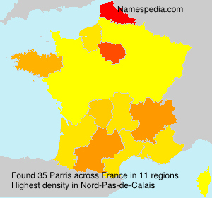 Surname Parris in France