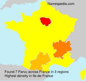 Surname Parvu in France