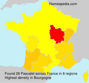 Surname Pascalet in France