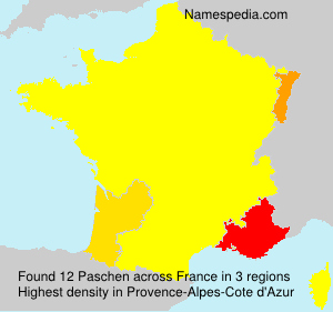 Surname Paschen in France
