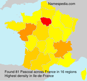 Surname Pascoal in France