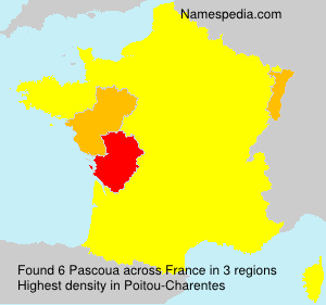 Surname Pascoua in France