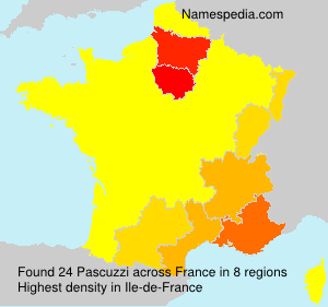 Surname Pascuzzi in France