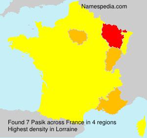 Familiennamen Pasik - France