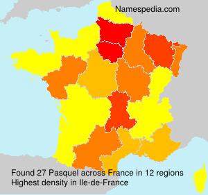 Surname Pasquel in France
