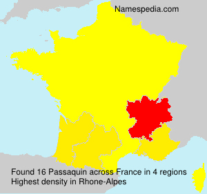 Surname Passaquin in France