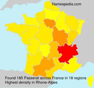 Surname Passerat in France