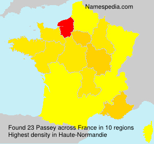 Surname Passey in France