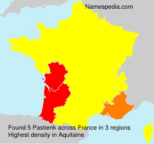 Surname Pastierik in France