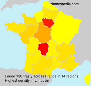 Surname Pasty in France