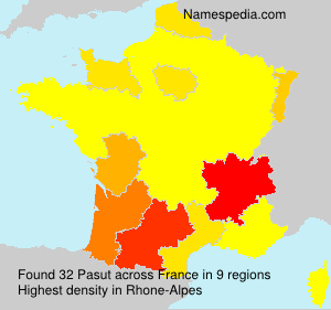 Surname Pasut in France