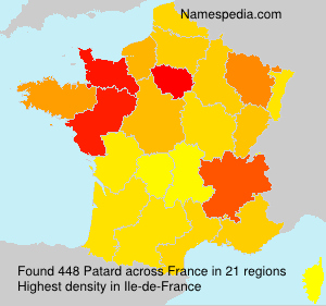 Surname Patard in France