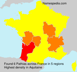 Surname Pathias in France