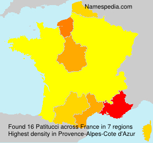 Surname Patitucci in France