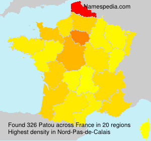 Surname Patou in France
