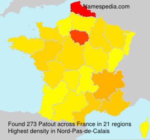 Surname Patout in France