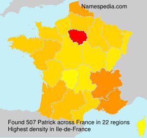 Surname Patrick in France