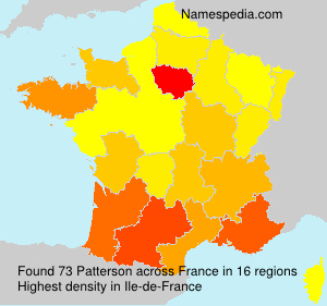 Surname Patterson in France