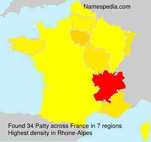 Surname Patty in France