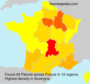 Surname Paturet in France