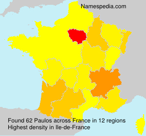 Surname Paulos in France