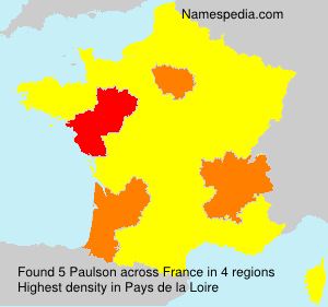 Surname Paulson in France