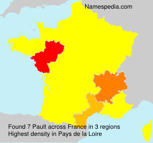 Surname Pault in France