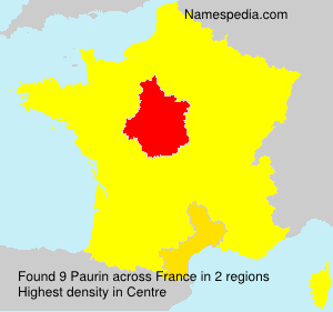 Surname Paurin in France