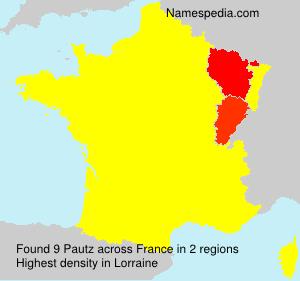 Familiennamen Pautz - France