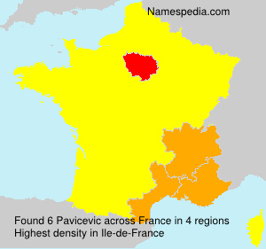 Surname Pavicevic in France