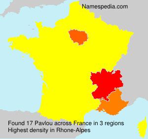Familiennamen Pavlou - France