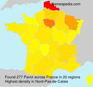 Surname Pavot in France