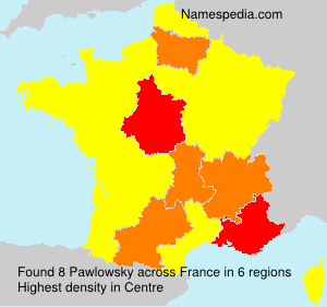 Surname Pawlowsky in France