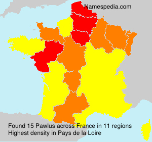 Surname Pawlus in France