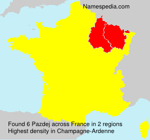 Surname Pazdej in France