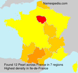 Surname Pearl in France