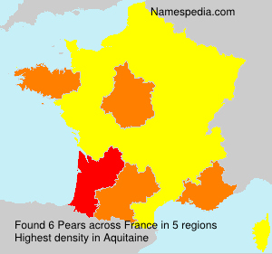 Surname Pears in France