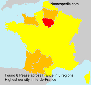 Surname Pease in France