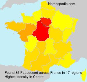 Surname Peaudecerf in France