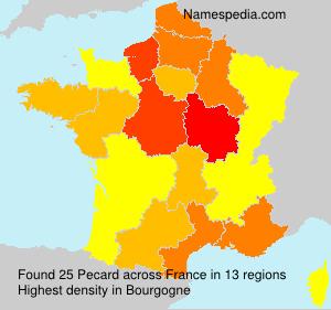 Surname Pecard in France